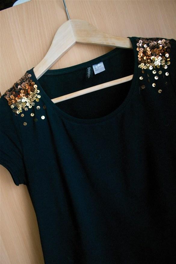 Customiser un haut basique noir avec un dégradé de paillettes   Kustom Couture