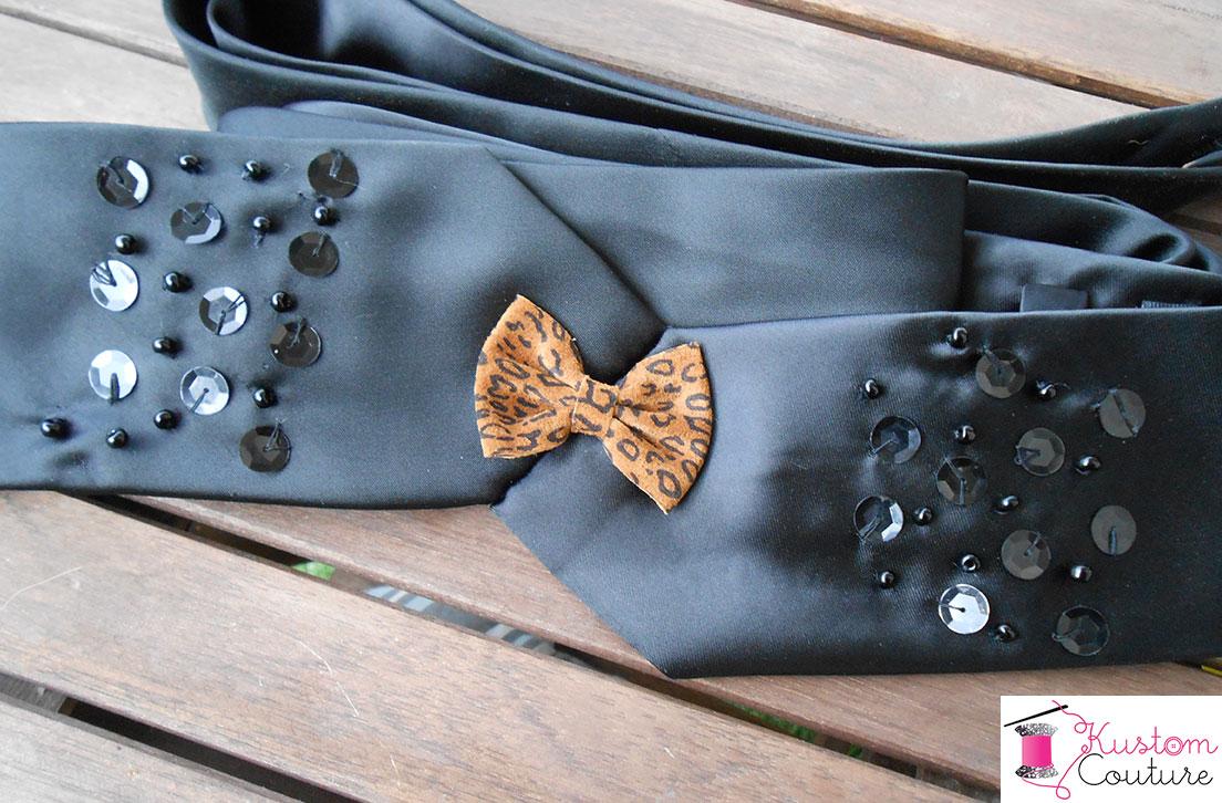 Ceinture-cravate léopardesque | Kustom Couture
