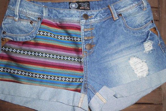 DIY Short en jean avec tissu navajo | Kustom Couture
