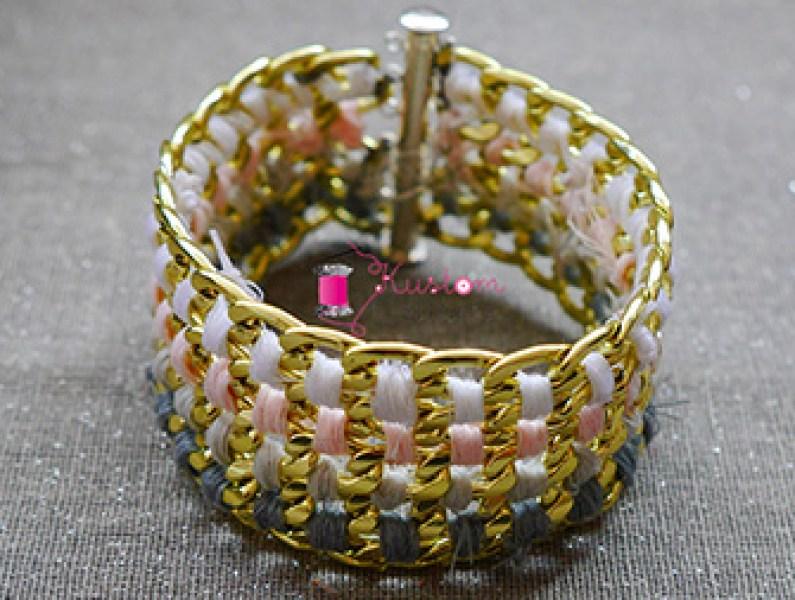 DIY Bracelet manchette en chaînes   Kustom Couture