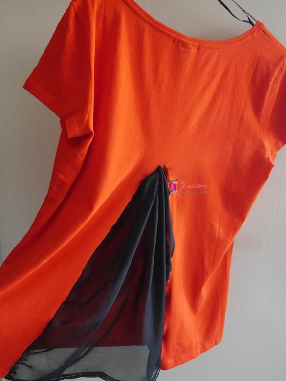 Customiser un haut basique avec du voilage | Kustom Couture