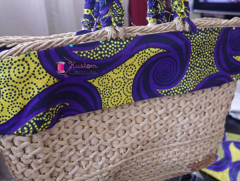 Customiser un panier avec du tissu wax | Kustom Couture
