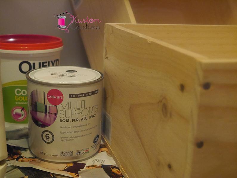 diy d co rangements rime avec caisses de vin kustom couture. Black Bedroom Furniture Sets. Home Design Ideas
