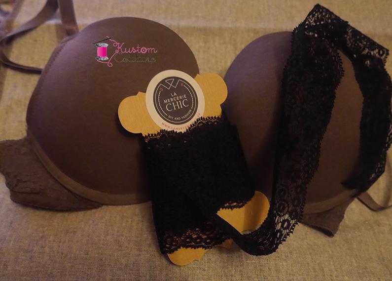 Customisation d'un soutien-gorge avec dentelle | Kustom Couture