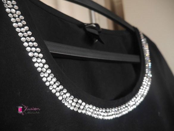 Customiser un haut basique avec des strass thermocollants | Kustom Couture
