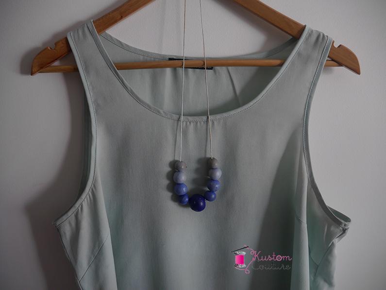 DIY Collier Fimo dégradé bleu | Kustom Couture