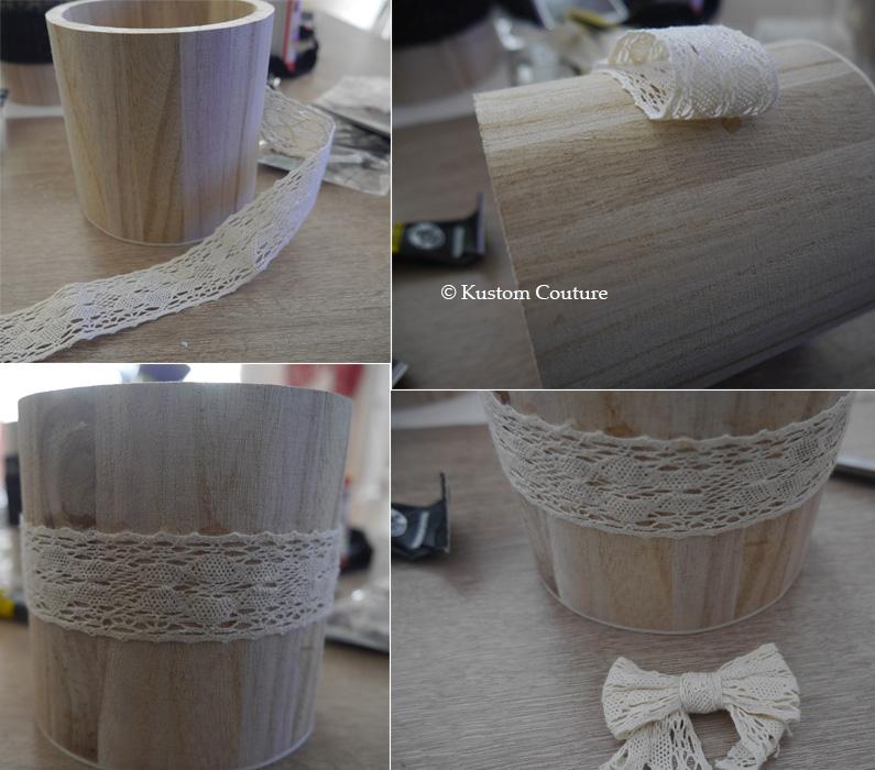 Customisation de pots en bois   Kustom Couture