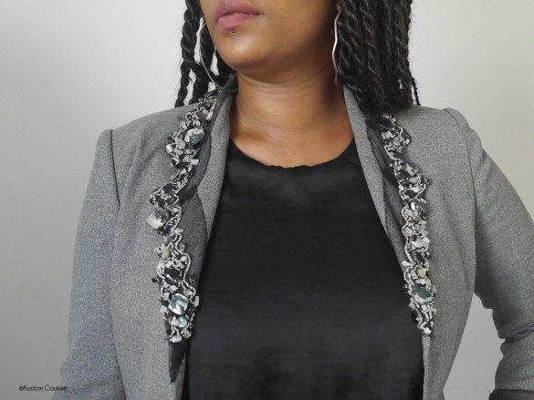 Customiser un blazer basique avec du ruban | Kustom Couture
