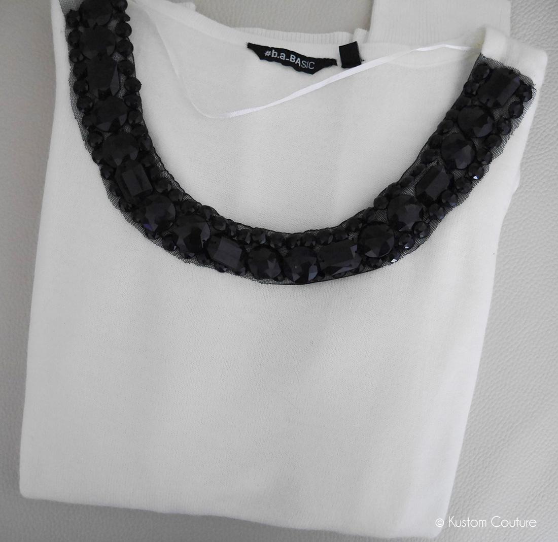 Customisation d'u pull avec ruban   Kustom Couture