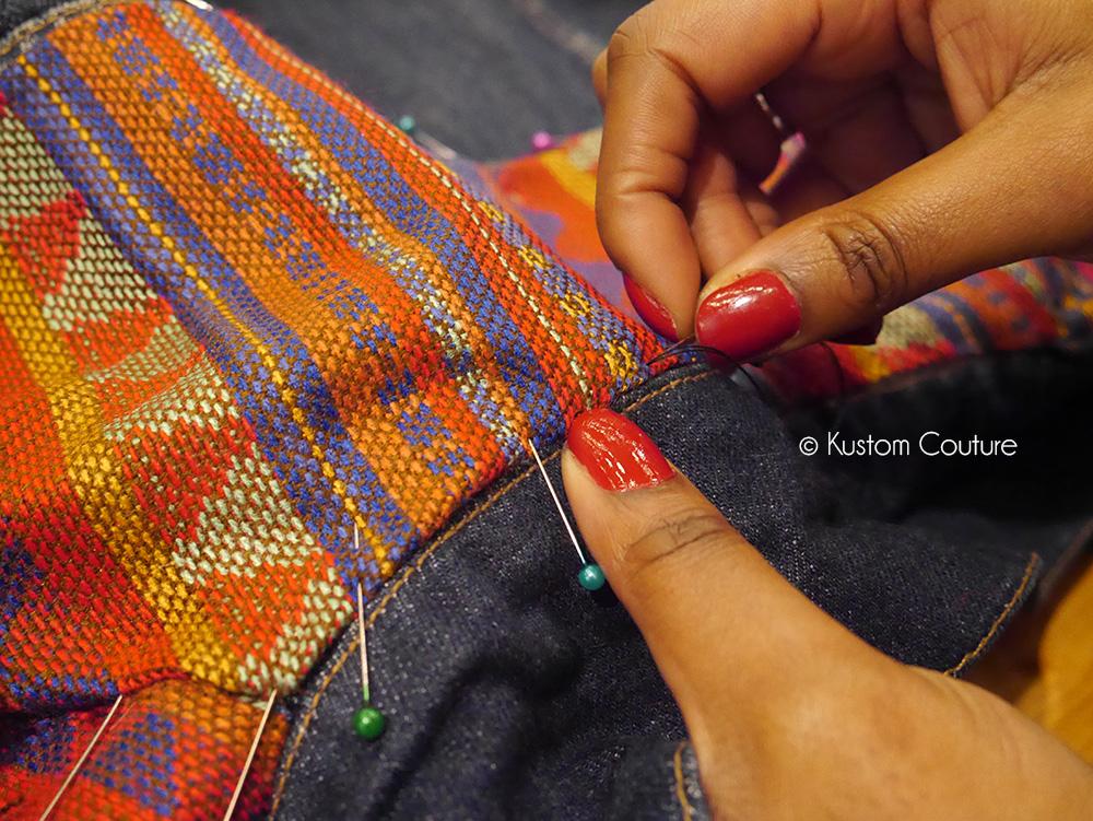 Upcycling d'une veste en jean   Kustom Couture