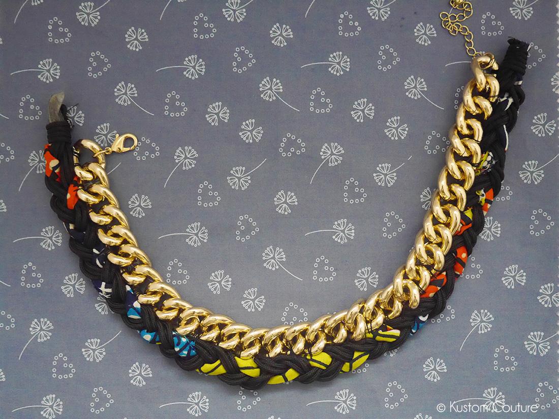DIY Collier XXL Wax   Kustom Couture