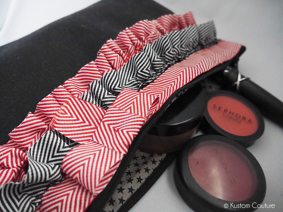 Customisation d'une trousse à maquillages | Kustom Couture