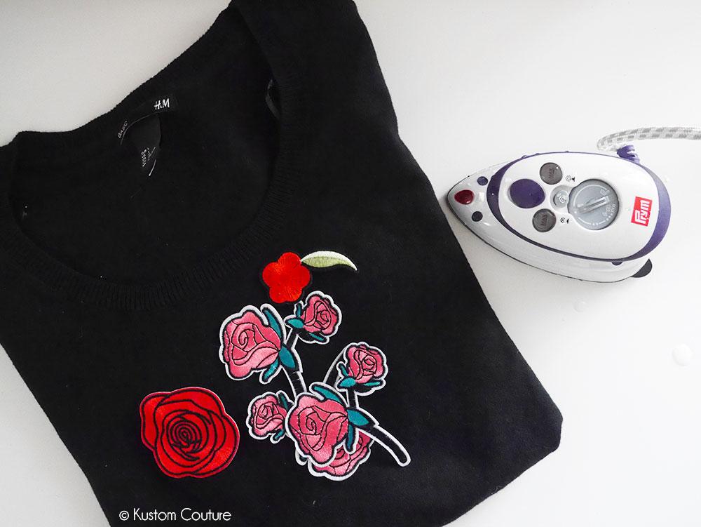 Comment customiser un pull basique avec des écussons thermocollants ?   Kustom Couture