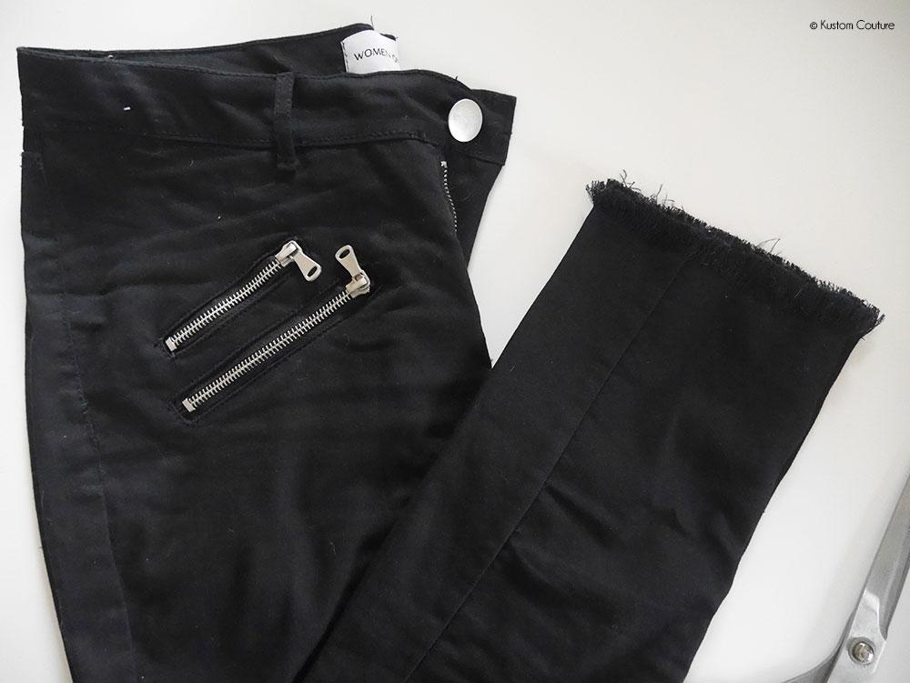 Customiser le bas d'un pantalon noir | Kustom Couture