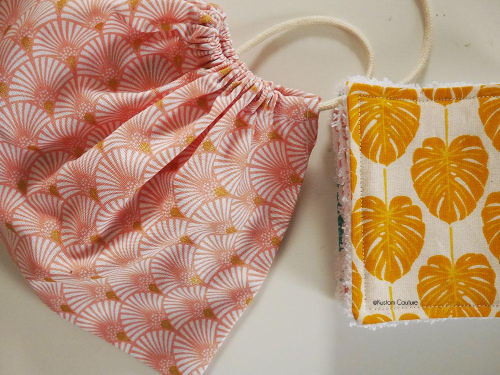 Coudre des lingettes démaquillantes lavables et un pochon en tissu | Kustom Couture