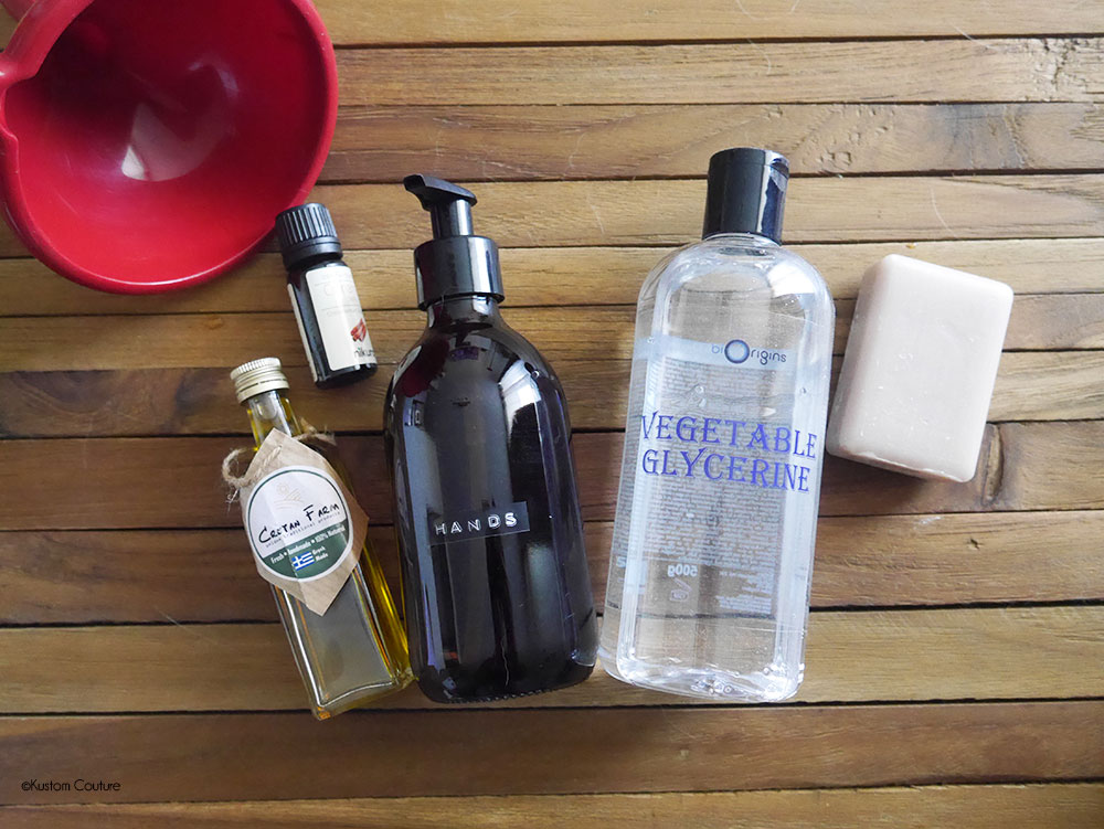 DIY savon liquide pour les main   Kustom Couture