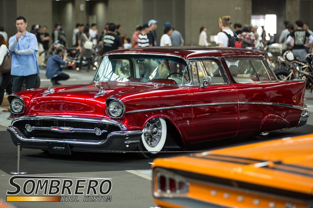 1957 Chevrolet Bel Air Nomad, 1957 Cadillac Sombrero, Candy Apple Red, Metalflake Scallops