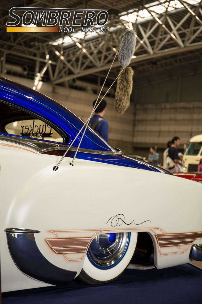 1954 Chevrolet 210, frenched antenna, fox tail