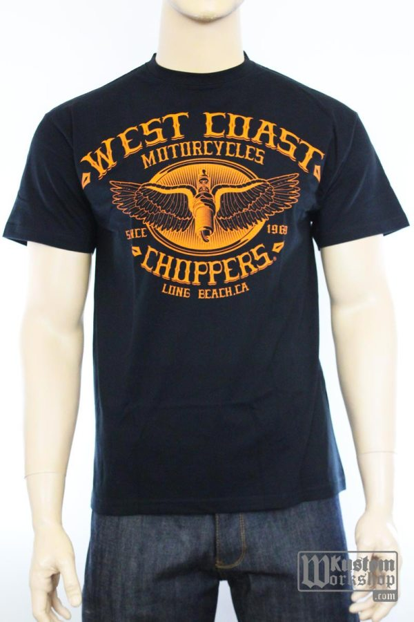 T-shirt West Coast Choppers Wings Logo Tee