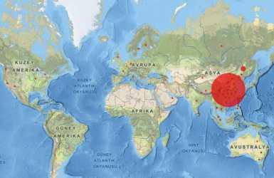 Corona Virüsü Tespit Edilen Ülkeler Güncel