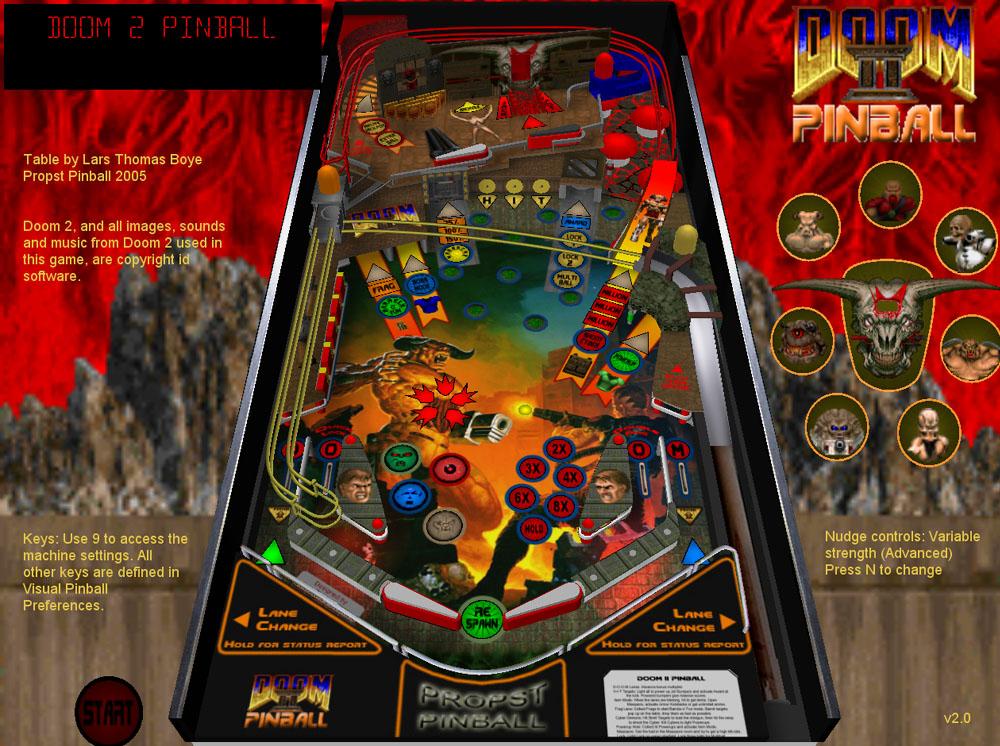 doom2 v 21 for visual pinball by Lars Thomas Boye Larsboy