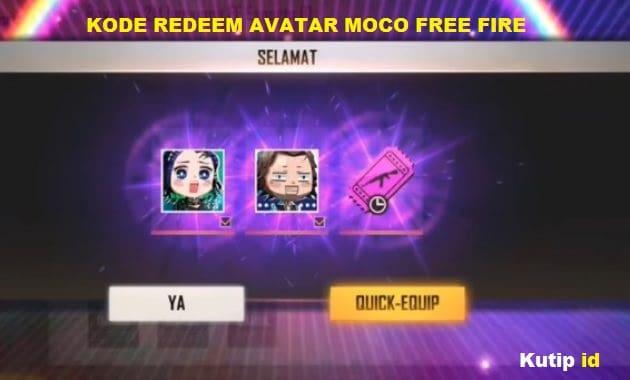 Inilah Kode Redeem Avatar Moco Free Fire Terbaru!