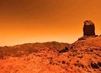 Ilustrasi Planet Mars