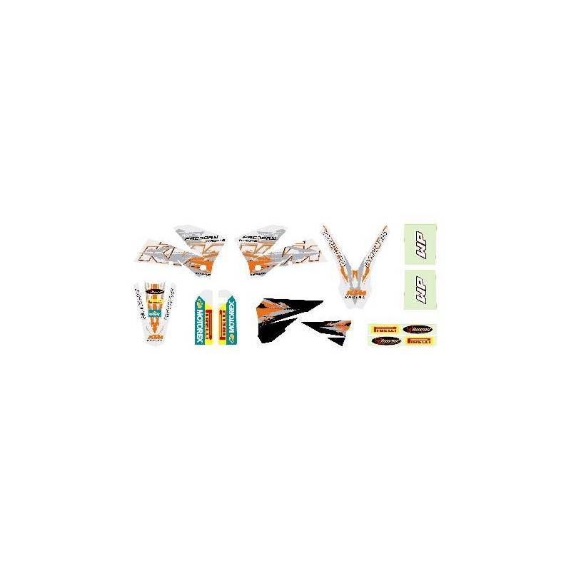 Kit Deco Blanc SX 2003-2006 : KIT DECO SX 125-200-250-400