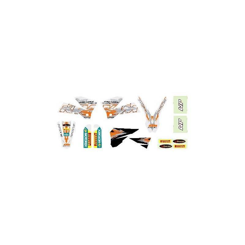 Kit Deco Blanc EXC 2003-2007 : KIT DECO EXC 125-200-250