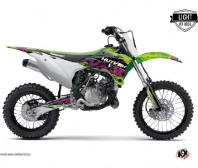 Kawasaki 85 Kx Dirt Bike Eraser Graphic Kit Green Light