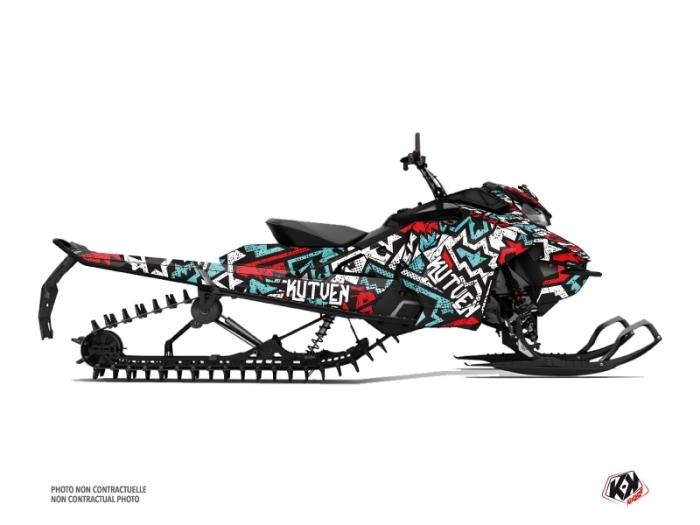Skidoo Gen 4 Snowmobile Aztek Graphic Kit Red Blue