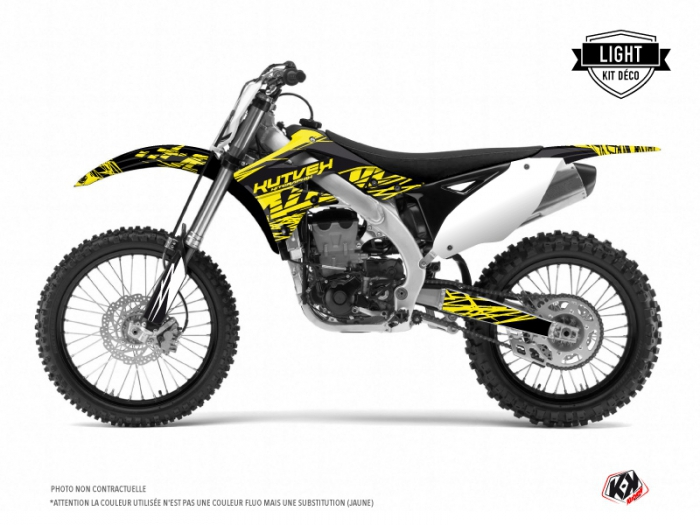 Kawasaki 250 KXF Dirt Bike Eraser Fluo Graphic Kit Yellow