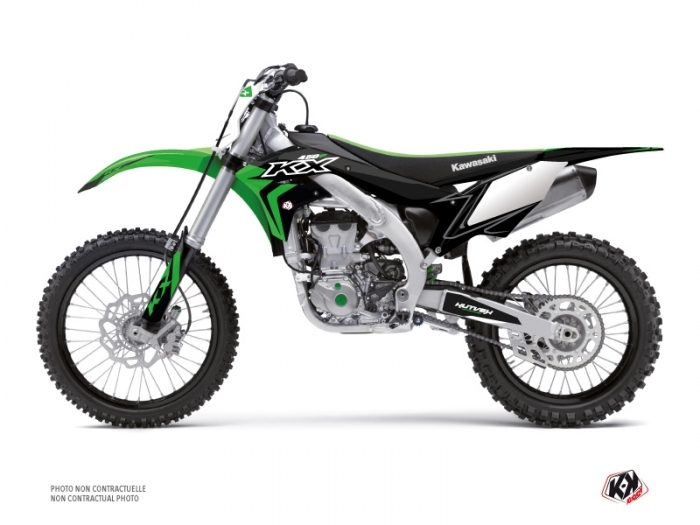 Kit graphique Moto Cross Halftone Kawasaki 450 KXF Noir