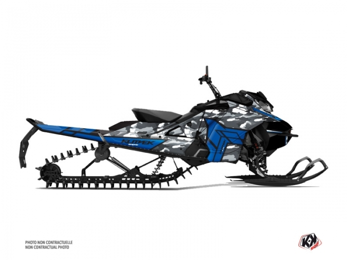 Skidoo Gen 4 Snowmobile Kamo Graphic Kit Grey Blue