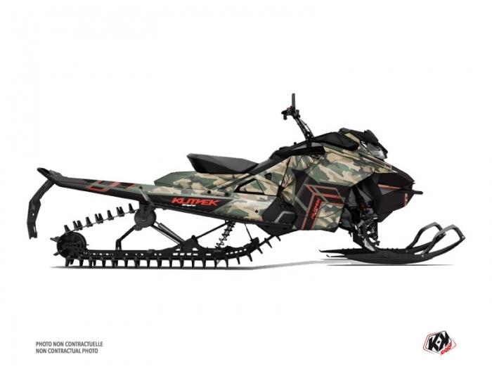 Kit graphique Motoneige Kamo Skidoo Gen 4 Vert Rouge