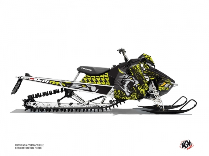 Polaris Axys Snowmobile Keen Graphic Kit Neon Grey