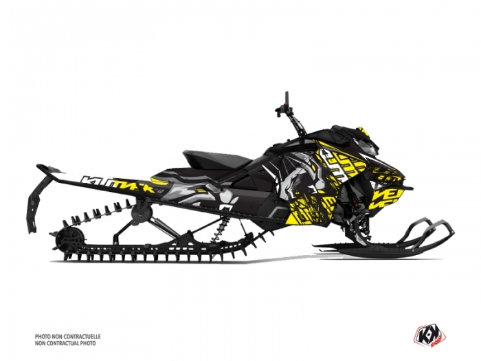 Skidoo Gen 4 Snowmobile Keen Graphic Kit Grey Yellow