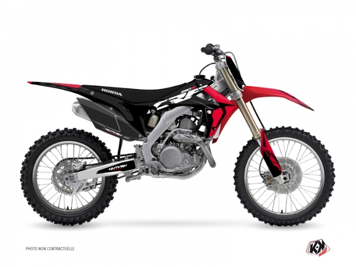 PACK Honda 250 CRF Dirt Bike Halftone Graphic Kit Black