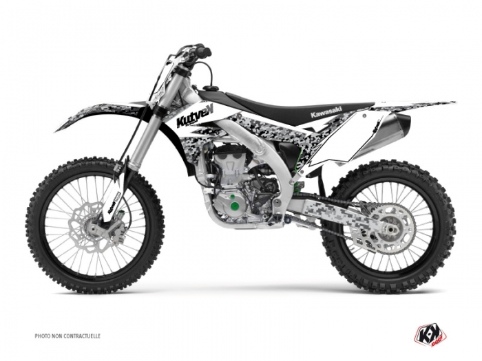 Kit graphique Moto Cross Predator Kawasaki 250 KX Blanc