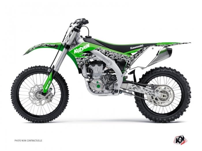 Kawasaki 250 KX Dirt Bike Predator Graphic Kit Green