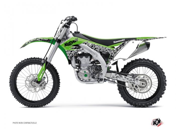 Kawasaki 450 KXF Dirt Bike Predator Graphic Kit Green