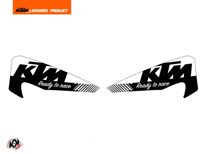 Graphic Kit Hand Guards Stickers Retro Dirt Bike KTM EXC