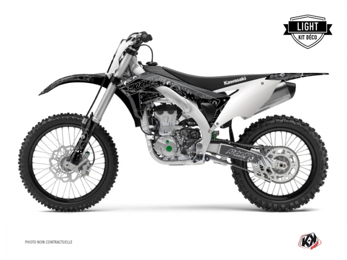 Kawasaki 450 KXF Dirt Bike Zombies Dark Graphic Kit Black