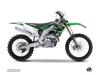 Kawasaki 450 KXF Dirt Bike Impact Graphic Kit Green