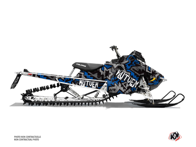 Polaris Axys Snowmobile Aztek Graphic Kit Grey Blue