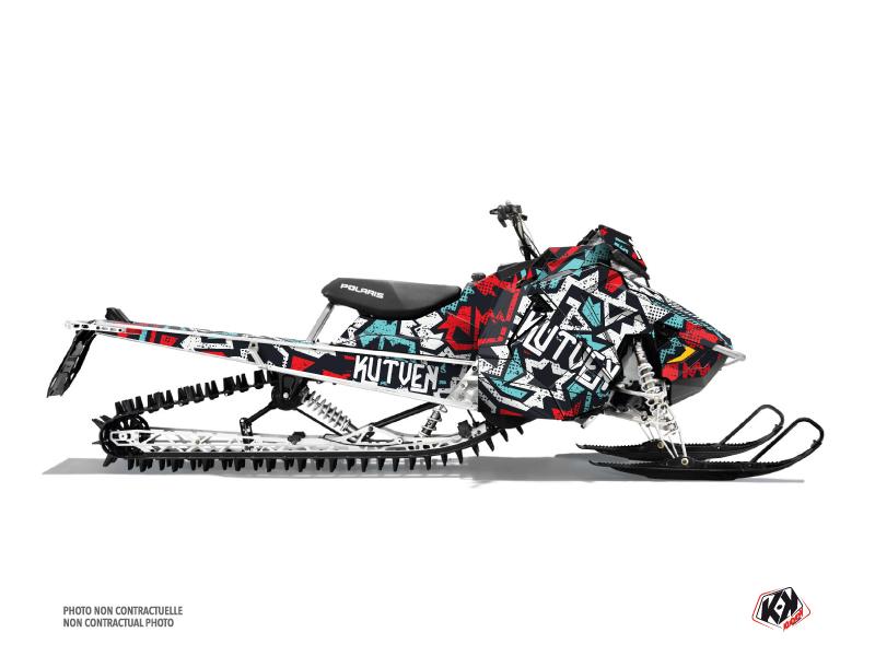 Polaris Axys Snowmobile Aztek Graphic Kit Red Blue