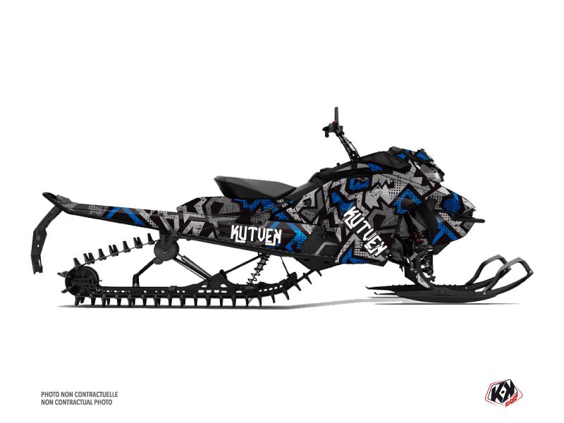 Kit graphique Motoneige Aztek Skidoo Gen 4 Gris Bleu
