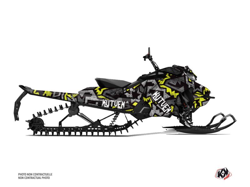 Skidoo Gen 4 Snowmobile Aztek Graphic Kit Grey Green