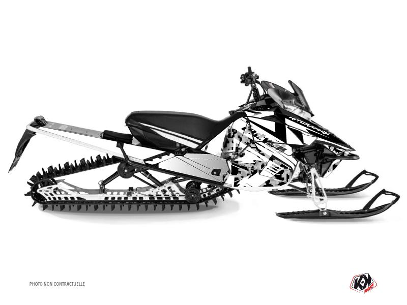 Yamaha SR Viper Snowmobile Digikamo Graphic Kit White