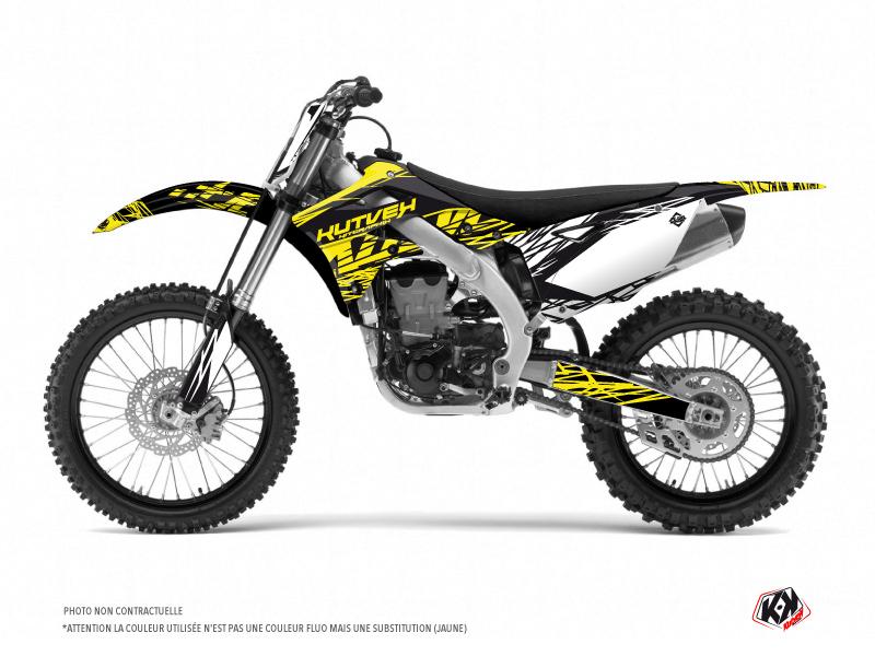 Kawasaki 125 KX Dirt Bike Eraser Fluo Graphic Kit Yellow